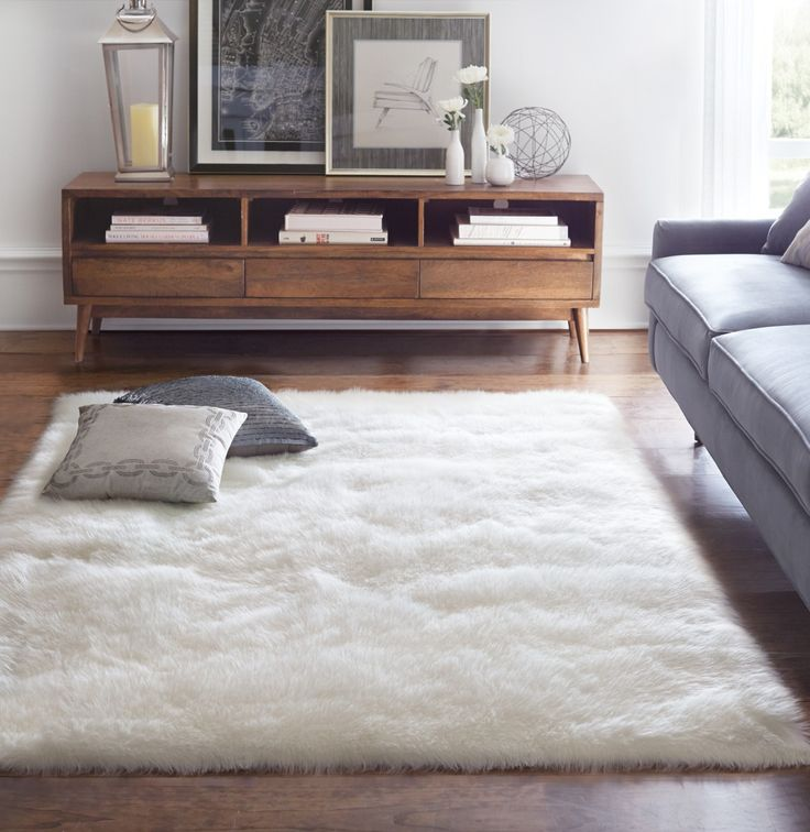 Give Your Living Room A Softer Look With Faux Sheepskin Area Rug You Can