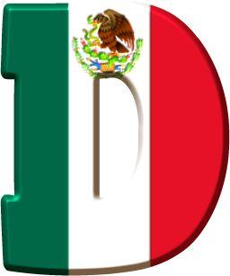 Alfabeto con Bandera de México.