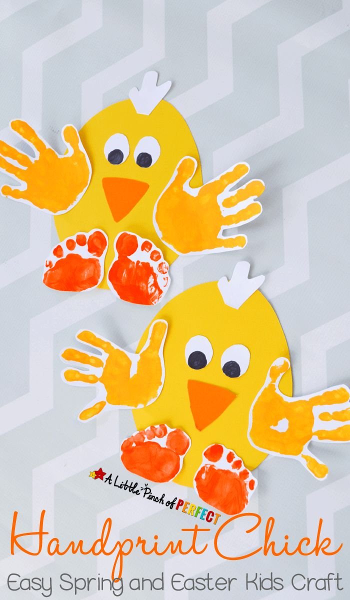 Handprint Chick: Easy Spring and Easter Craft for Kids