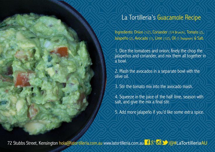 La Tortilleria's Guacamole Recipe