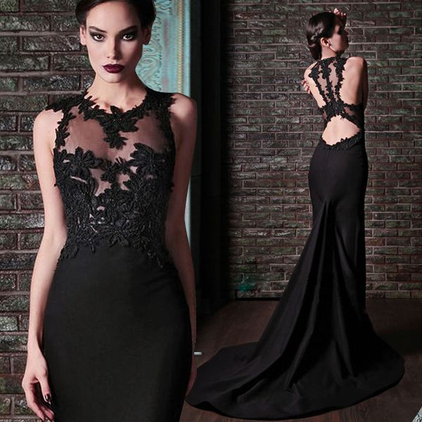 New Arrival Hot Sale Mermaid Long Lace Evening Dress 2015 Sexy Vestido De Festa Vestido Longo