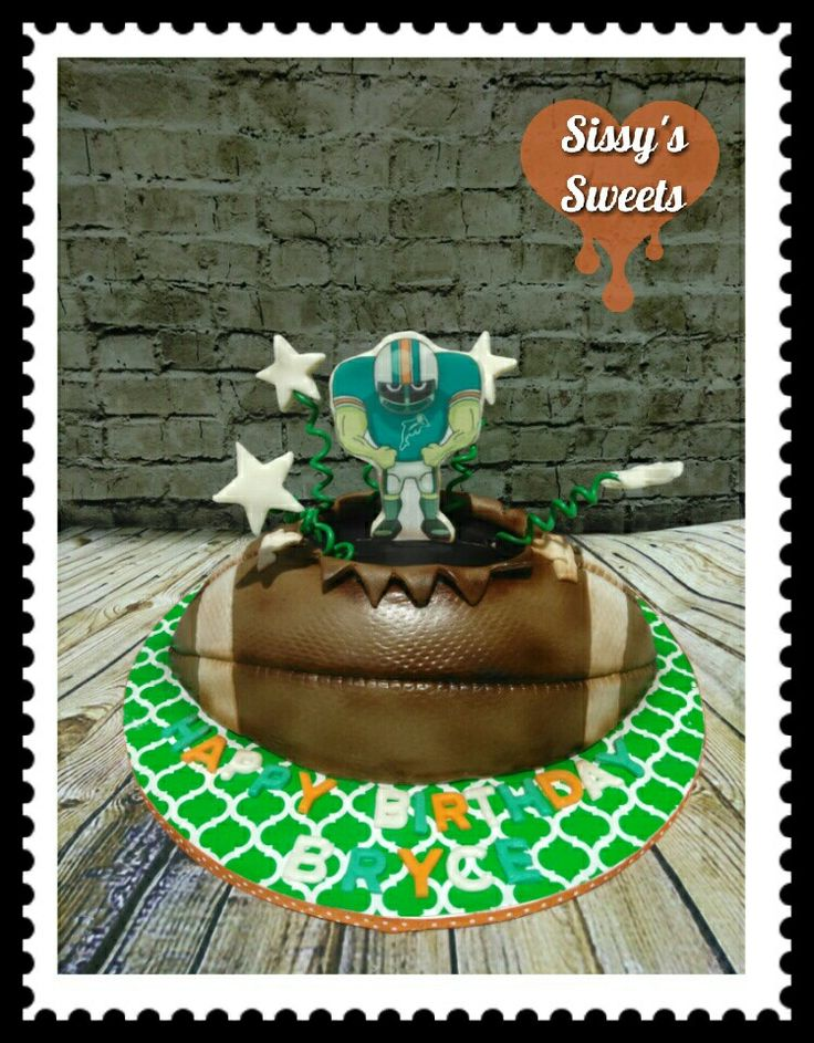 Miami Dolphins Football cake