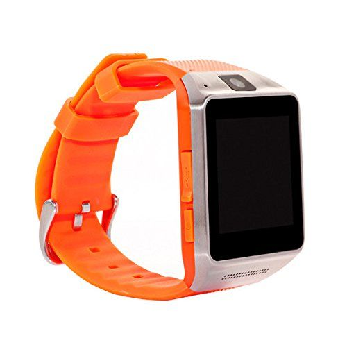 Great Asia Smart Bluetooth Watch Vg02 Support SIM Card Smart Phone Wrist Watch for Android Iphone Orange >>> You can get more details by clicking on the image.