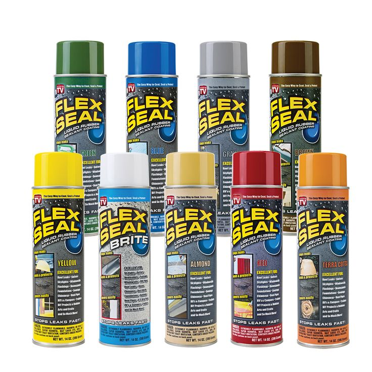 Flex Seal® Colors Is A Rubberized Coating That Sprays Out As A Liquid,  Seeps Into Cracks And Holes And Dries To A Watertight, Flexible Coating.