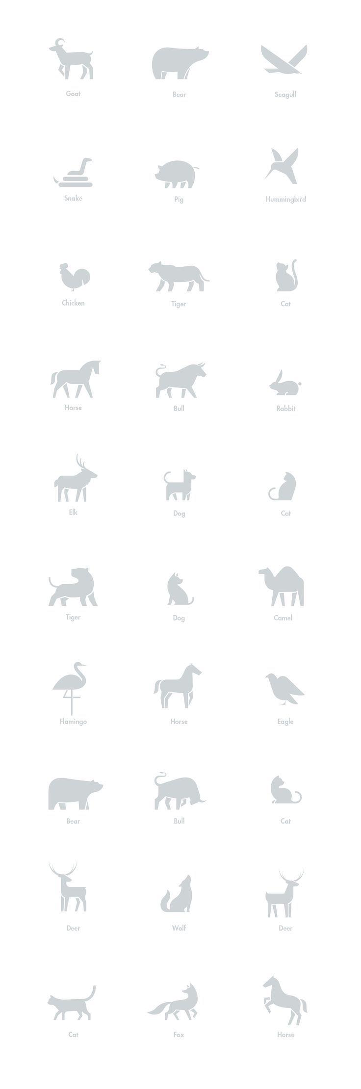 Animal eye chart design