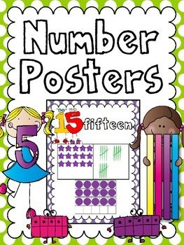 "Number Posters Freebie .....Follow for Free ""too-neat-not-to-keep"" teaching tools & other fun stuff :)"