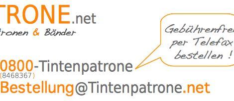 Hier siehst du unser neues Brandlogo für Tintenpatrone.net. So einfach und doch so überzeugend; das neue Logo von Tintenpatrone.net, dem Onlineshop.