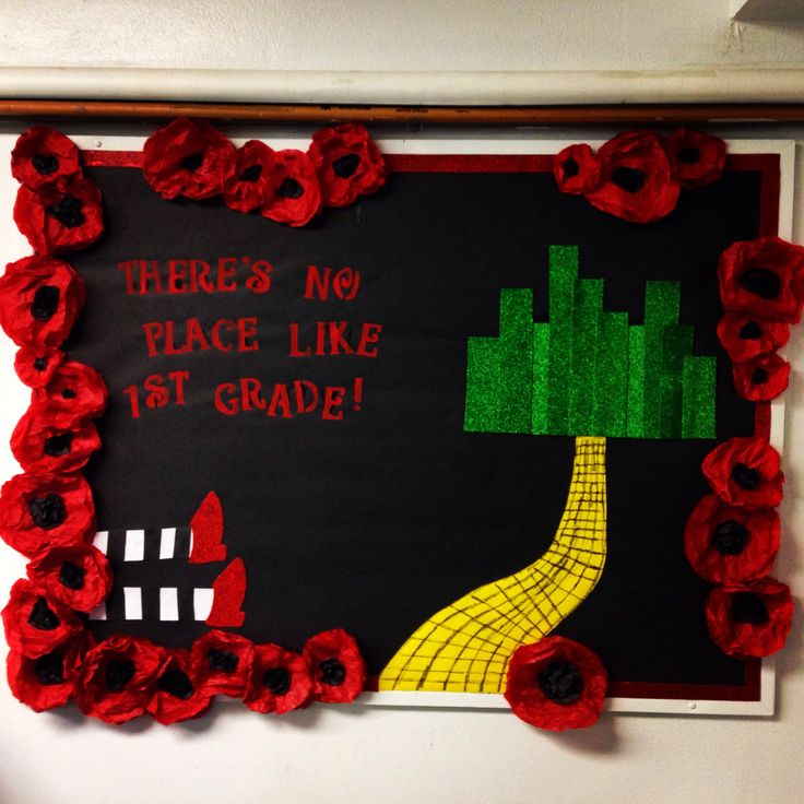 Wizard of Oz Bulletin Board- There's No Place Like 1st Grade!