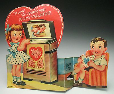17 Best images about Vintage valentine Cards TV Entertainment – Tv Valentines Day Cards