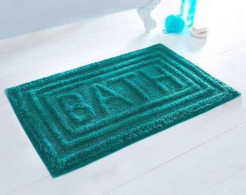 Best Teal Bath Mats Ideas On Pinterest Mermaid Bathroom - Blue and brown bath rugs for bathroom decorating ideas