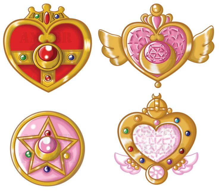 Sailor Moon Lockets by ~Boundbyribbon on deviantART