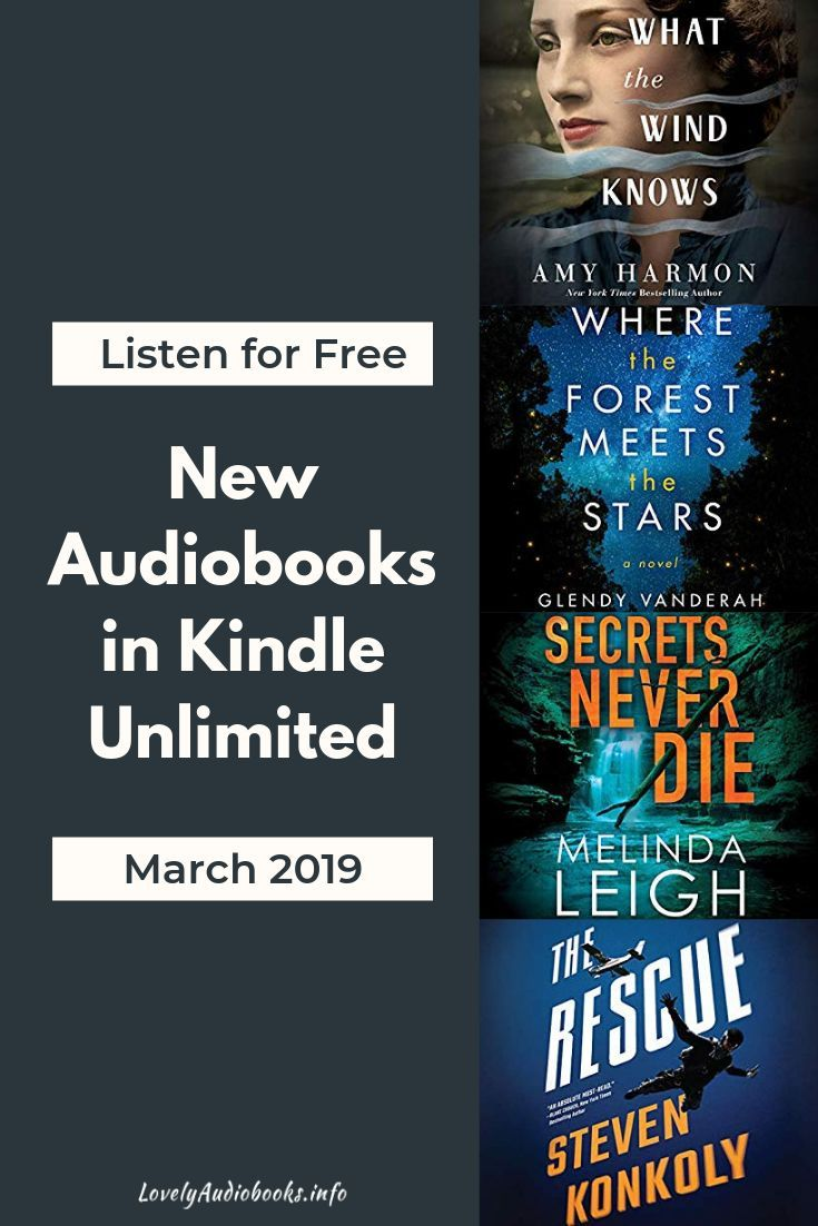New Free Audiobooks in Kindle Unlimited in March 2019