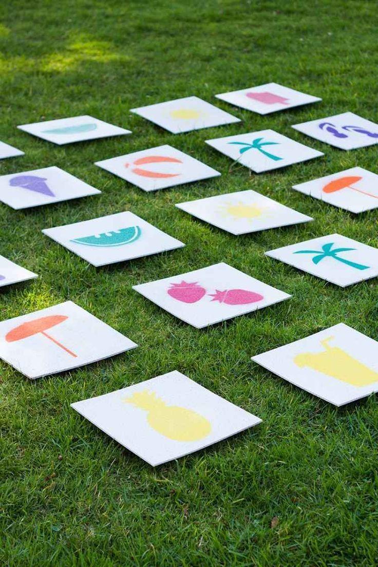 Memoryspiele Fur Draussen Mit Grosse Karten Oder Paare Fundstucken Memory Spiele Schablonen Kostenlos Drucken Spiele Im Garten