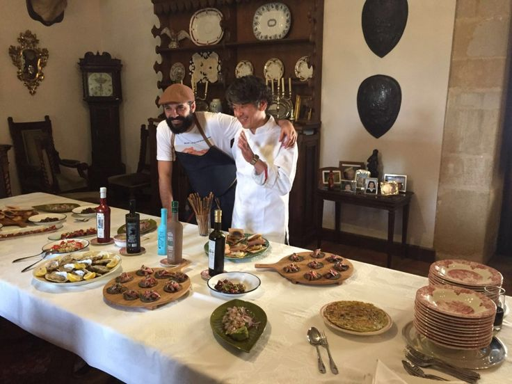Japanese and Spanish cuisine fused in the castle! Thanks to the chefs Matsuse from Hotel Gran Vía in Kyoto & Marcos Castillo from Miscelanea Tavern in Jaen, Baeza.