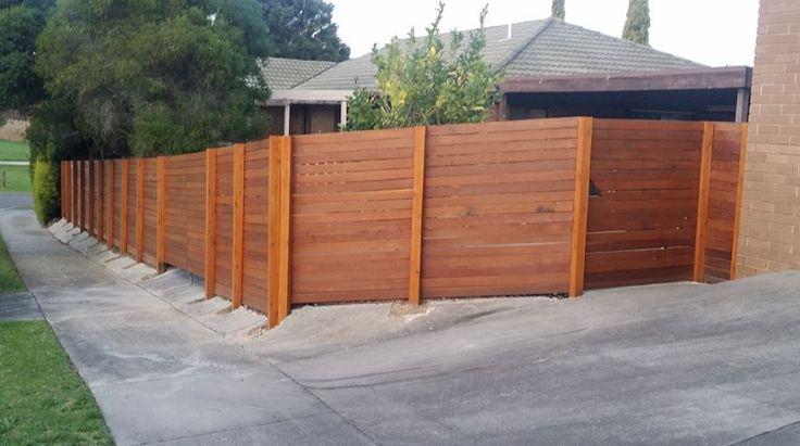 Reverse Hardwood Fence by Highside Fencing