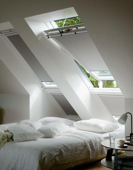 Creëer je eigen sfeer met VELUX raamdecoratie. Doe meer inspiratie op via www.velux.nl #VELUX