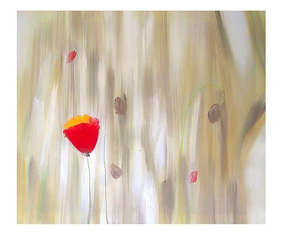 Dipinto a mano su tela Il fiore che spicca - 60x50 cm