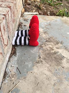 Witch Leg Yarn Bomb - free crochet pattern by Rayna Noel.