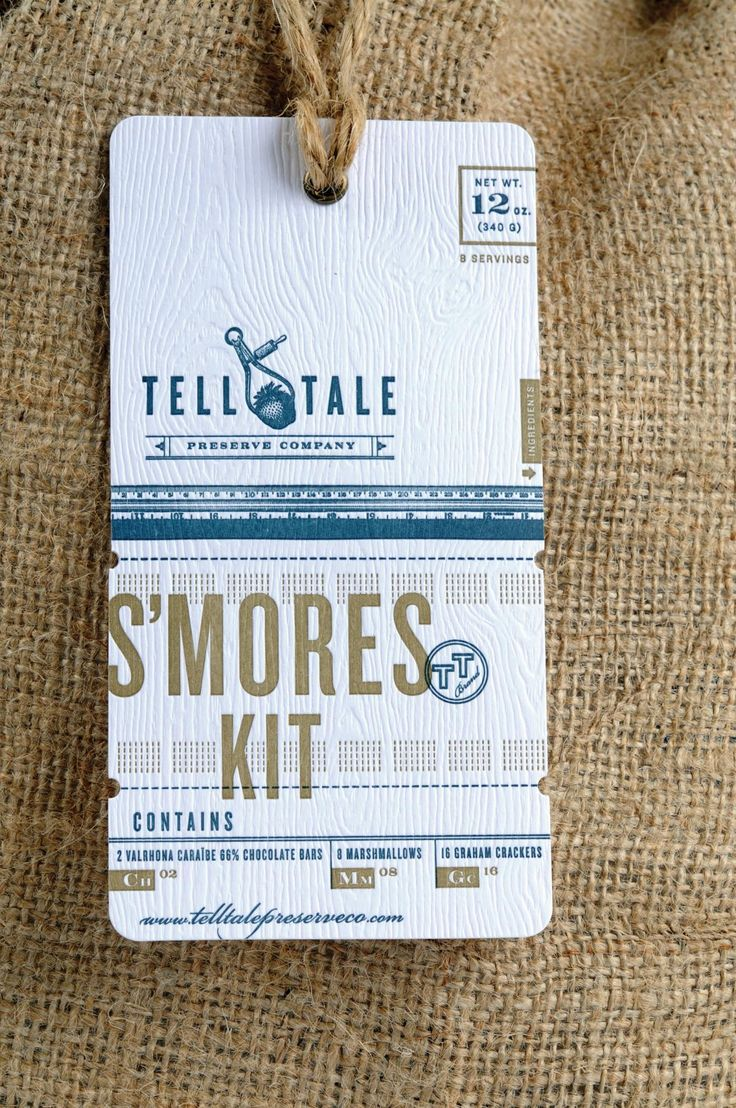 hang tag for s'mores kit