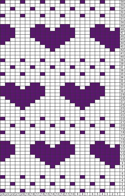 Tricksy Knitter Charts: heart gloves by Chesspot
