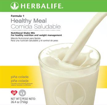 Otro rico sabor de Batido de Herbalife es la piñacolada, rica y refrescante. www.goherbalife.com/nutricel/es-US/Catalog/Control-de-Peso/Formula-1