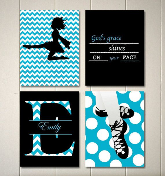 Girls wall art Irish dance wall art Irish by PicabooArtStudio- just the ones with the ghillies & the dancer! Finally in blue too!