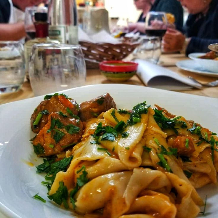 Taste of Calabria...papardelle and braised pork..