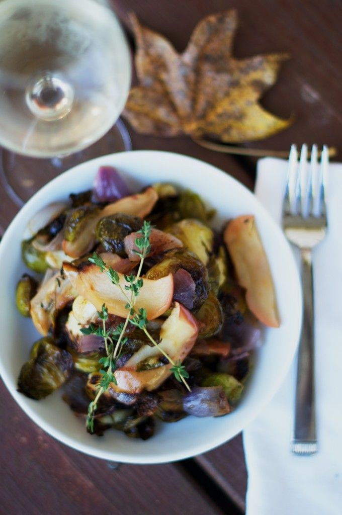 Roasted Brussels Sprouts & Apples Recipe — Dishmaps
