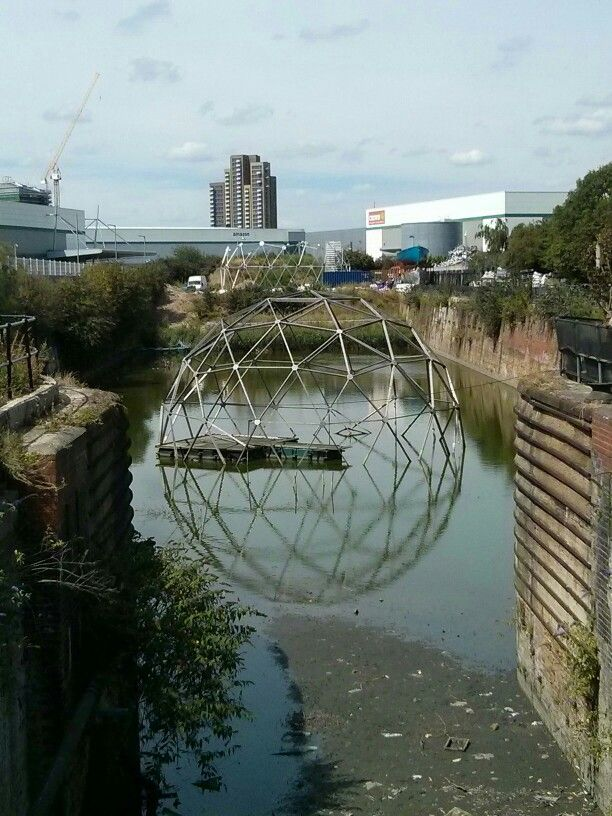 Cody dock. Lovely industrial no-man's land. With caff of course (this is still London and a boy still has needs)