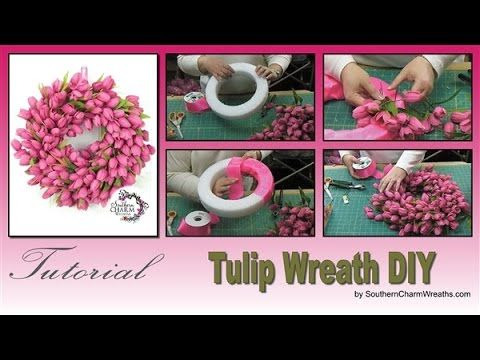 how to make a tulip wreath, crafts, diy, home decor, how to, wreaths