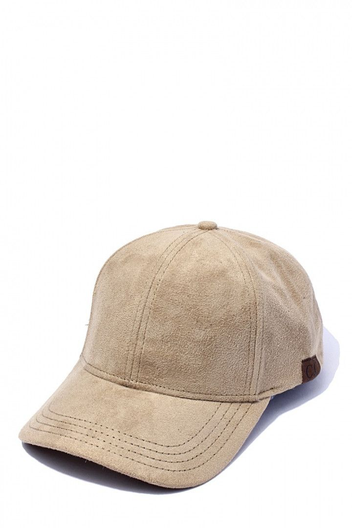 Suede Vegan Leather Baseball Cap
