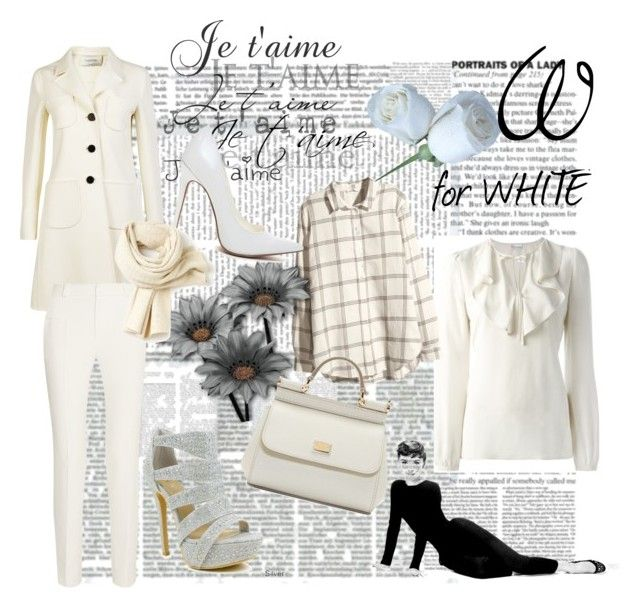 """""""Snow White"""" by ibuperi on Polyvore featuring Valentino, RED Valentino, Roland Mouret, H&M, Celeste, Dolce&Gabbana and Lacoste"""