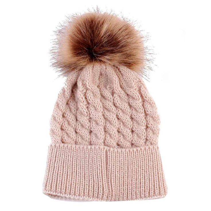 Newborn Winter Baby Girl Hat Cap Beanie, Kids Children Winter Knitted Wool Hats Caps for Girls recien nacido