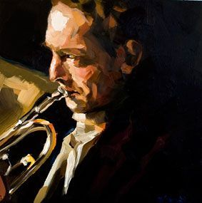 Edward B Gordon. The Trumpet Player.