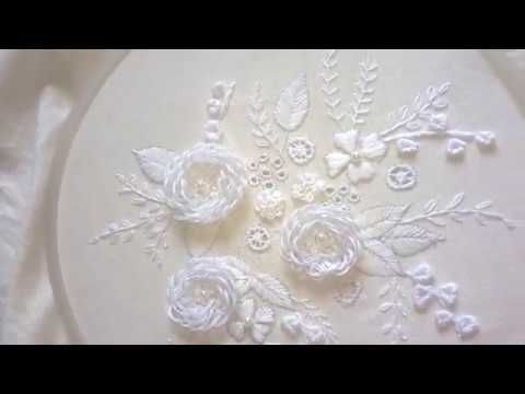 Hand embroidery designs-chickenkari/shadow work/luknowi embroidery with gotta patti work - YouTube