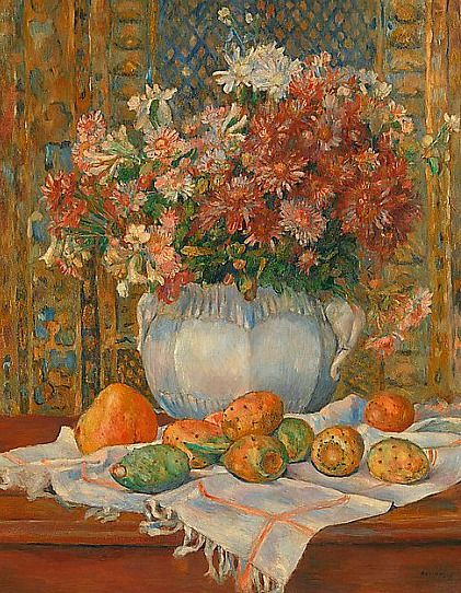 Auguste Renoir Still Life with Flowers and Prickly Pears 1884