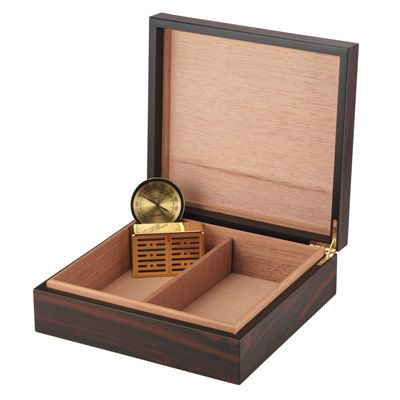 Craftsman's Bench La Salle Humidor, 25 Cigar Capacity, Includes Humidifier and Hygrometer.