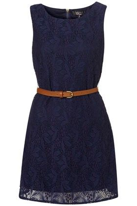 navy dress: Navy Lace Dresses, Navy Blue Dresses, Style, Navy Dresses, Brown Belts, Blue Lace, Love Lace, Day Dresses, The Navy