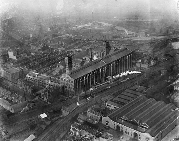 The Bryant & May Match Factory, Bow, London, January 1920. Redeveloped into residential accommodation in the 1980s, the Bryant & May Match Factory was the site of the Match Girls Strike in 1888 that culminated in the establishment of the first British trade union for women. At its peak there were more than 3000 women and girls working at this site. © English Heritage