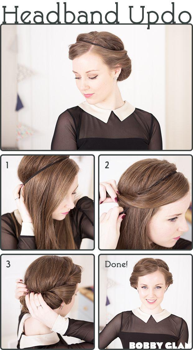 Head Band Updo hair tutorial