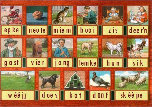 Zeeuws-Vlaams dialect.  Leesplankje 4.