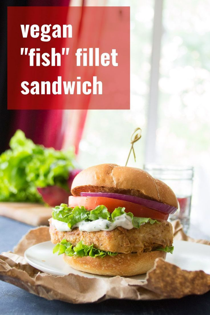 These Scrumptious Vegan Fish Sandwiches Are Made With Marinated Battered And Fried Tofu Fillets And Served Wit Vegan Fish Fish Fillet Sandwich Fish Sandwich