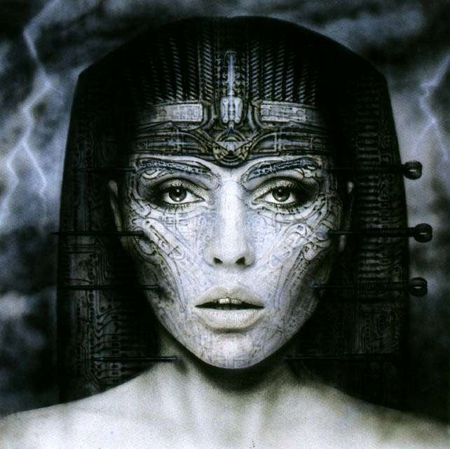 H. R. Giger's  concept art for Debbie Harry's or Blondies album cover.