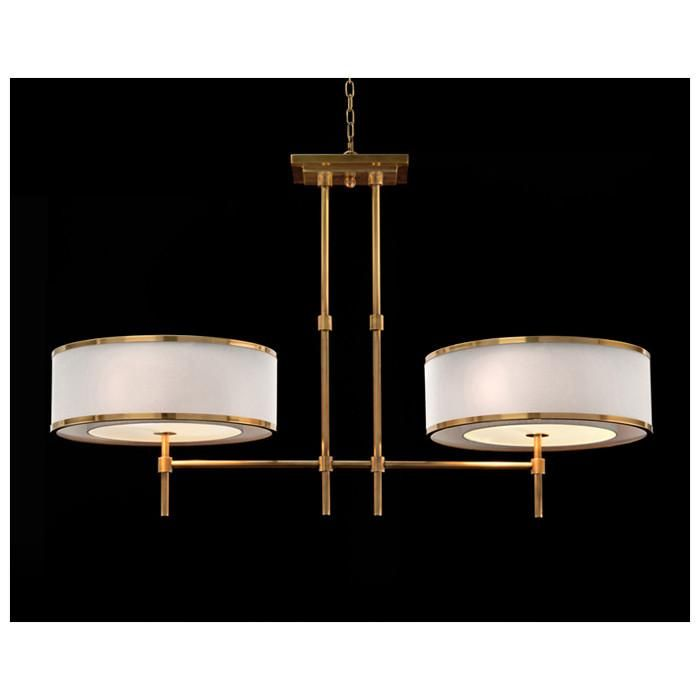 Eric 6 Light Pearl White Chandelier with Off White Cotton Shades