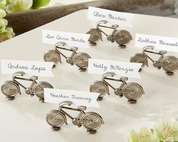 """""""Le Tour"""" Bicycle Place Card/Photo Holder (Set of 6)"""
