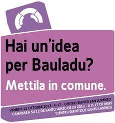 A Bauladu il 12 ottobre 2012 si è tenuto il primo incontro pubblico di Bauladu Lab, il laboratorio di progettazione partecipata della comunità di Bauladu, in provincia di Oristano.  #ProgettazionePartecipata su @marraiafura