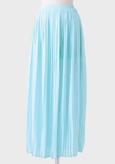 beau vallon pleated maxi skirt