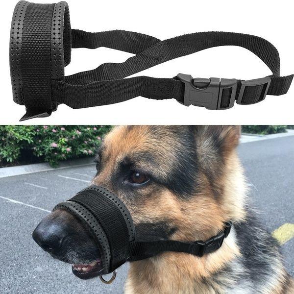 No Pulling Dog Training Muzzle Soft Inner Padded Anti Pull Large