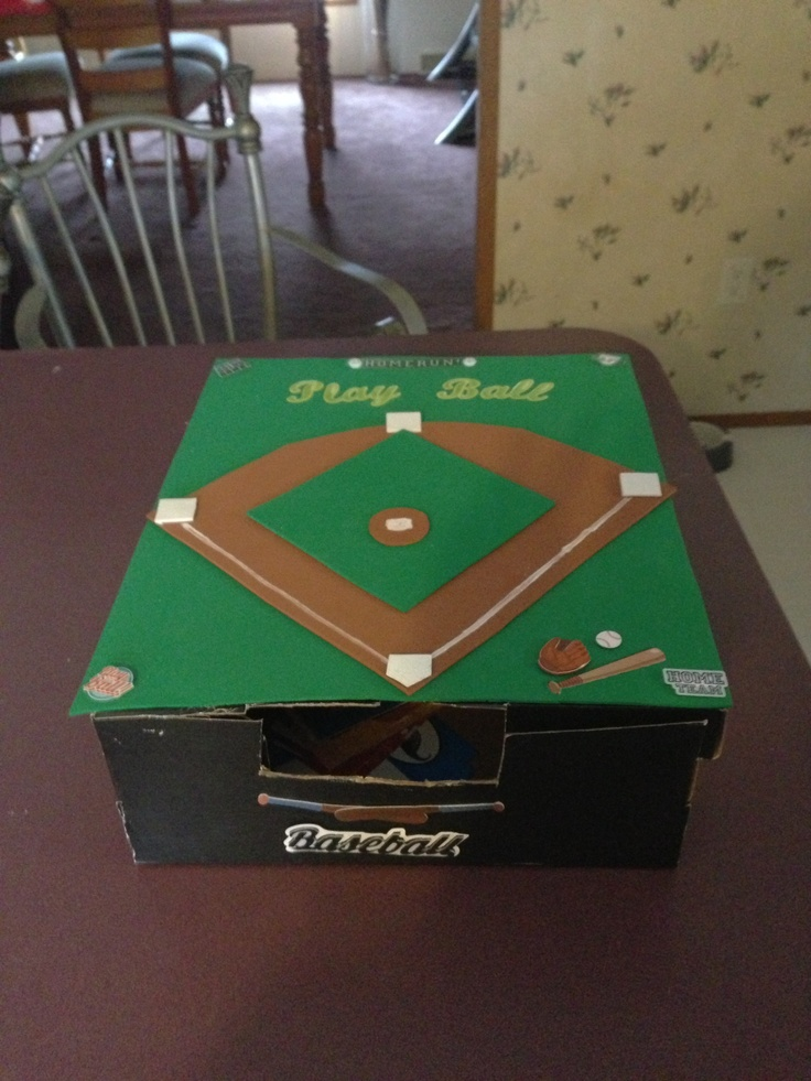 Baseball valentine box