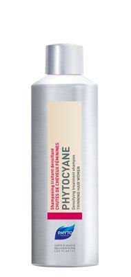 Δυναμωτικό σαμπουάν Γυναικεία τριχόπτωση PHYTOCYANE Αναζωογονητικό και συγχρόνως καλλυντικό σαμπουάν που προσφέρει πυκνότητα και λάμψη στα μαλλιά. Ο ιδανικός συνδυασμός: Να το χρησιμοποιείτε τακτικά με τον Δυναμωτικό Ορό κατά της τριχόπτωσης Phytocyane.  Πλεονεκτήματα  Πολύτιμος σύμμαχος και συμπλήρωμα του Δυναμωτικού Ορού κατά της τριχόπτωσης, το σαμπουάν PHYTOCYANE δυναμώνει τα μαλλιά χάρη σε μία συνέργεια δυναμωτικών φυτικών συστατικών.